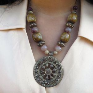1970's Boho Statement Necklace
